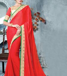 Buy maroon embroidered silk saree with blouse designer-embroidered-saree online