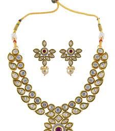 Buy Choker Necklace Set With Floral Design necklace-set online