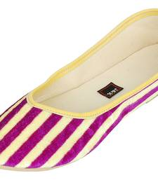 Yellow And Purple Women's Mojaris