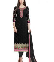 Buy Black embroidered georgette salwar ready-to-ship-salwar-kameez online