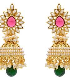 Buy BEAUTIFUL ANTIQUE GOLDEN PEARLS JHUMKA jhumka online