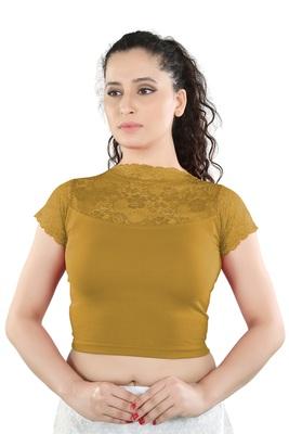 23956ac6412fd Buy Beige Cotton Lycra plain stitched blouse Online