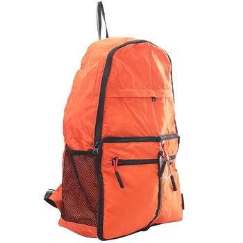 Deep Solid Orange Multipurpose Folding Bag
