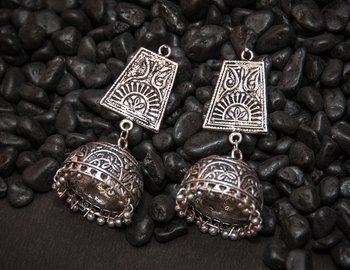 Tribal german silver jhumki