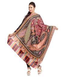 Buy Multicolor Woolen Shawl With Rich Designs And Colors wedding-season-sale online