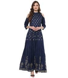 blue south_silk polyester stitched kurti