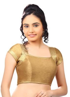 copper  banglory plain unstitched blouse