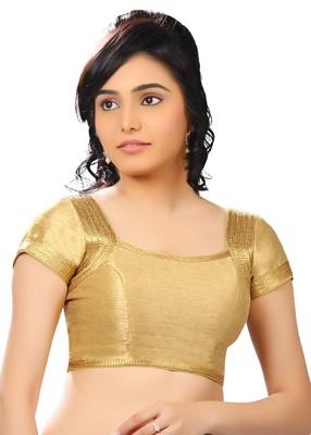 gold banglory plain unstitched blouse