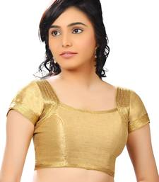gold banglory plain unstitched blouse