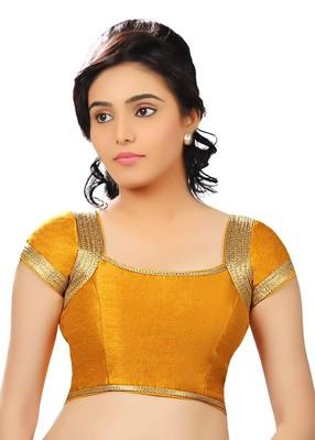 mustard banglory plain unstitched blouse