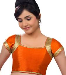 orange banglory plain unstitched blouse