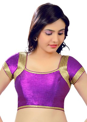 purple banglory plain unstitched blouse