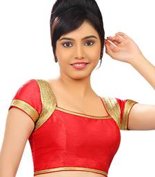 red banglory plain unstitched blouse