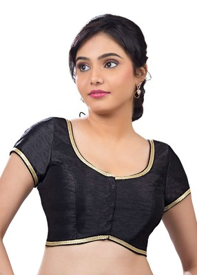 black banglory plain unstitched blouse