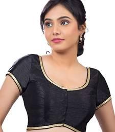 black banglory plain unstitched blouse