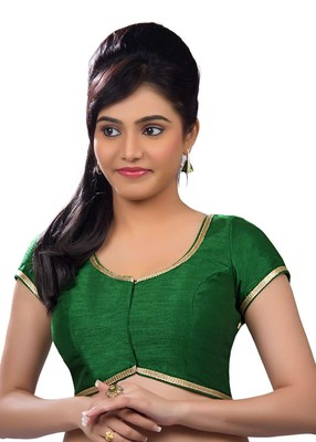green banglory plain unstitched blouse