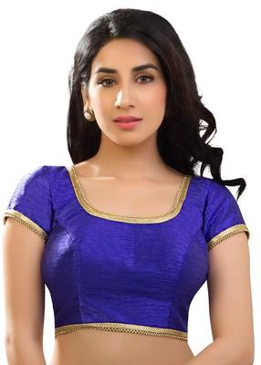 royal blue banglory plain unstitched blouse