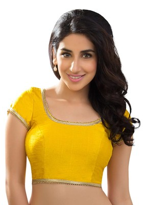 yellow banglory plain unstitched blouse