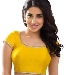 yellow banglory plain unstitched blouse