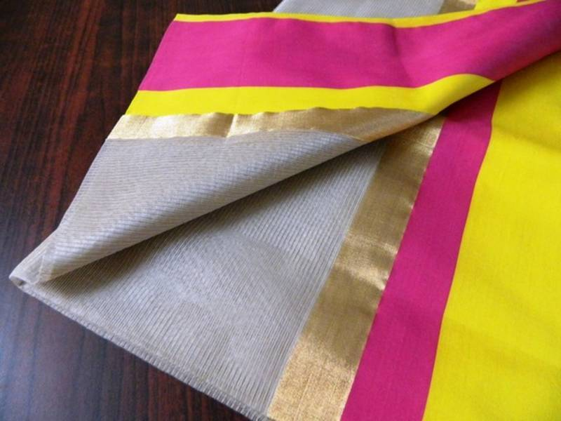 Cotton Vs Linen Curtains: Buy Beige Maheswari Silk By Cotton Saree With Stunning