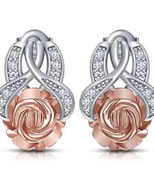 Buy 925 Silver Beautiful Rose Flower Daily wear Stud Earring for Women & Girls stud online