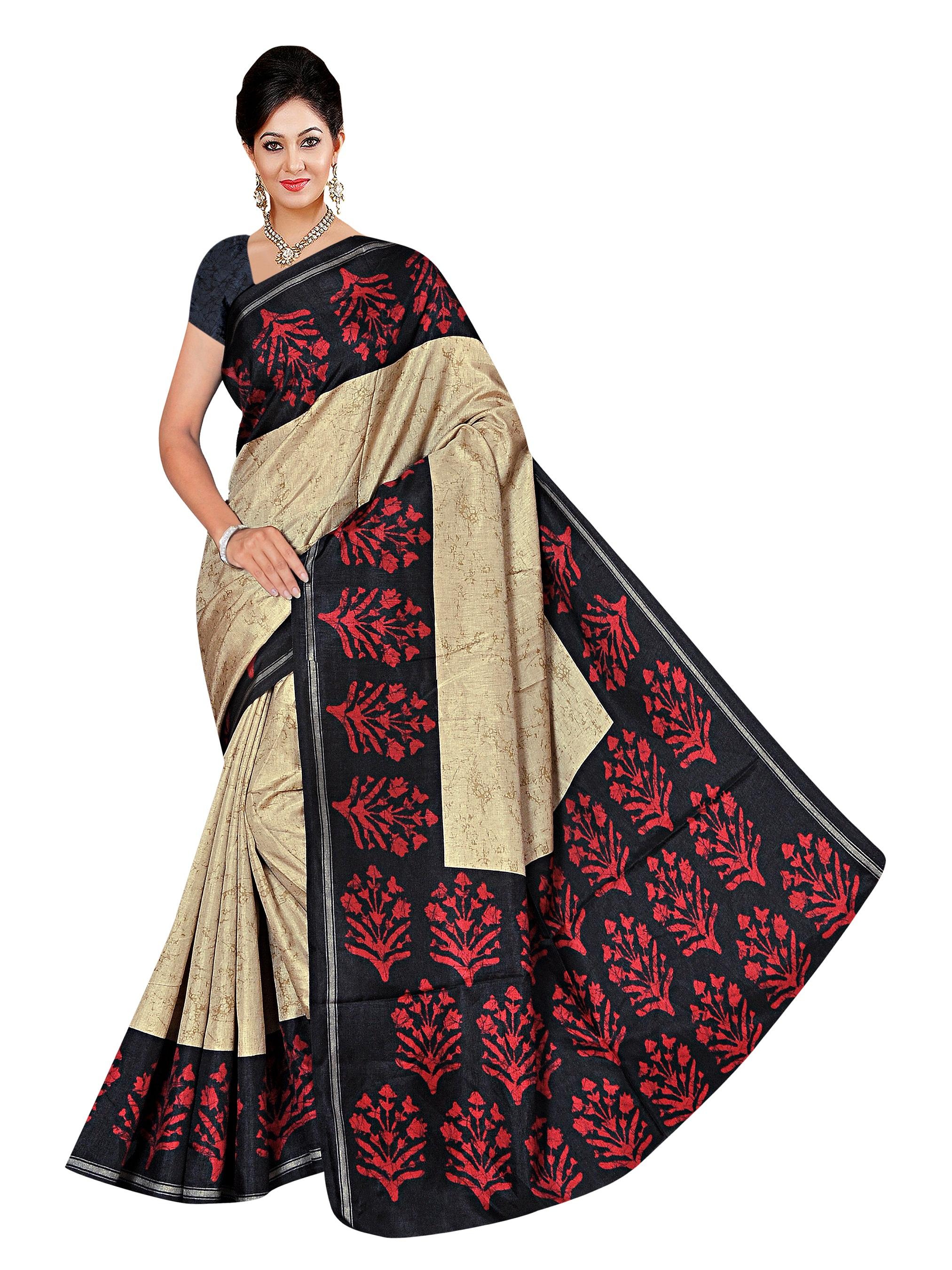 e467fbe08212e Multicolor printed manipuri silk saree with blouse - Winza Designer -  2319982