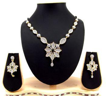 american diamond setting stones sapphire blue necklace