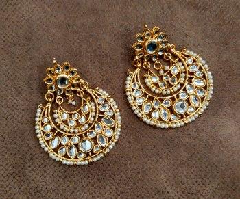 Tasneem Kundan Chandbali Earrings