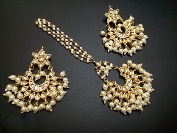 White pearl jewellery-combo