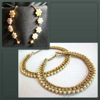 Buy 1 Get 1 Free Golden Pearl Anklet