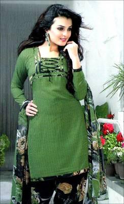 Designer printed synthetic dress material - AVG138106DM
