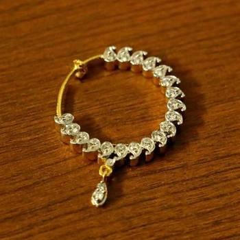 Diamond Lookpaisley Gold Plated Nose Ring