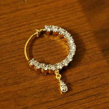 Diamond Look Round Shaped Pressable Nose Ring