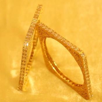 8c7a66a00 Square Shaped Polki Studded Filigree Bangles - Sanvi Jewels Pvt. Ltd. -  2328563