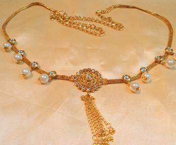 Designer Polki Gold Plated Waist Belt