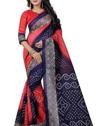 Buy Multicolor printed bhagalpuri saree with blouse bhagalpuri-silk-saree online
