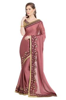 8d158e0de71b5b Pink Saree Online - Buy Hot Pink Sarees with Golden Border for Women