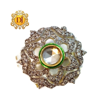 Kundan cocktail ring adjustable