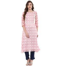 white chanderi polyester  kurti