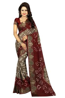 Maroon hand woven art silk sarees saree with blouse
