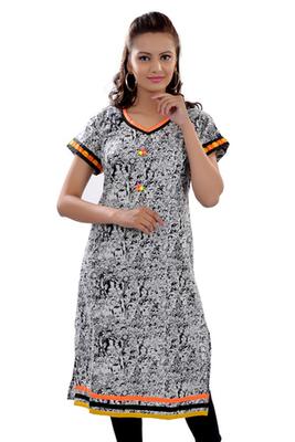 Multicolor Jaipuri Printed Cotton Casual Wear Kurti