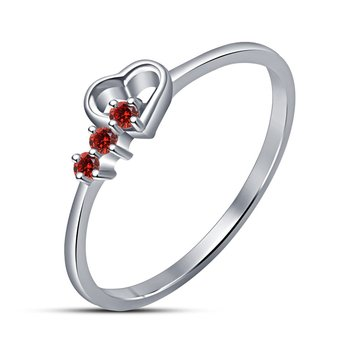 0651f142b1 Heart Shape Love Forever Ring For Girls,Women In White Platinum Plated -  Lilu Jewels - 2334035