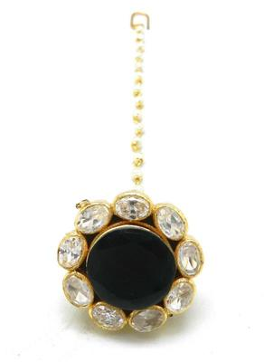 Traditional Borla Made With Fine Brass  And  Decorated With Amercian Diamond  And  Pearl Chain