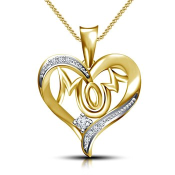 14K Gold Plated 925 Sterling Silver Pendant For Women
