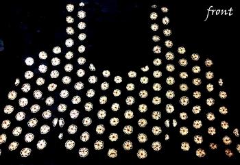Partywear antique sequins handwork un-stitched black dupion raw silk blouse