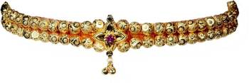 Kolhapuri Traditional Gold Choker Thushi Necklace