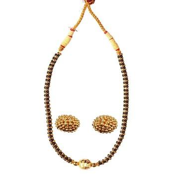 Kolhapuri  Traditional Gunda Thushi Mangalsutra With Earrings