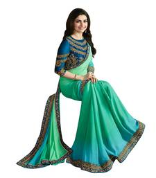 Buy Multicolor embroidered georgette saree with blouse other-actress-saree online