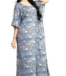 Multi color printed high quality rayon soft cotton long designer kaftan