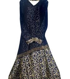 Buy Black colour diamond stone work strechable lycra fully stitched burkha burka online